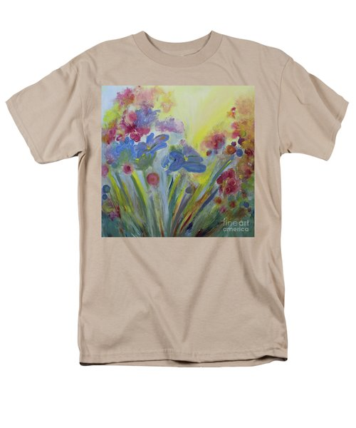 Men's T-Shirt  (Regular Fit) featuring the painting Floral Splendor by Stacey Zimmerman