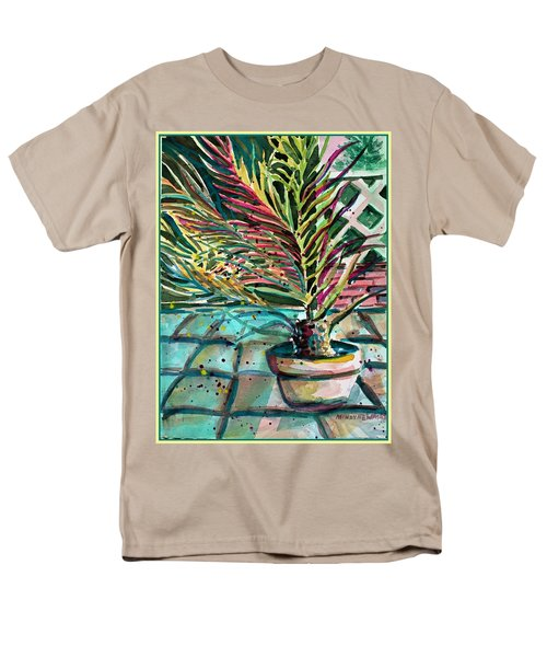 Men's T-Shirt  (Regular Fit) featuring the painting Florescent Palm by Mindy Newman