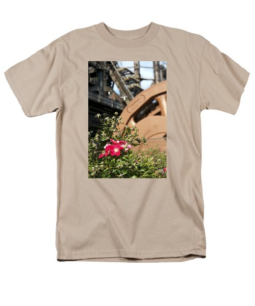 Flowers And Steel Men's T-Shirt  (Regular Fit) by Michael Dorn