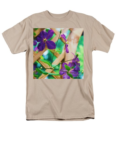 Men's T-Shirt  (Regular Fit) featuring the painting Flowers Purple by Eric  Schiabor