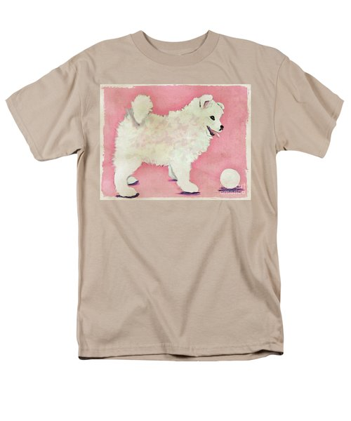 Fluffy Pup Men's T-Shirt  (Regular Fit) by Phyllis Kaltenbach