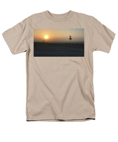 Men's T-Shirt  (Regular Fit) featuring the photograph Foggy Hawkeye Sunrise  by Jame Hayes