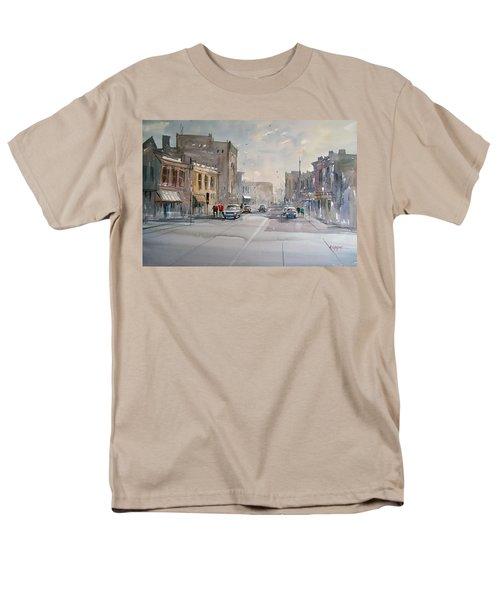 Fond Du Lac - Main Street Men's T-Shirt  (Regular Fit) by Ryan Radke