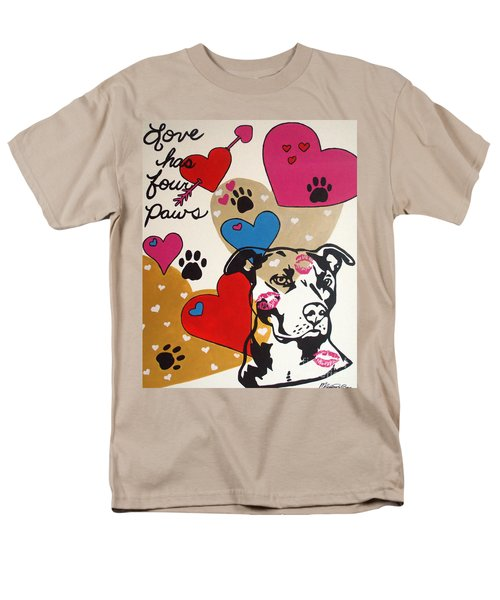 Four Pitty Paws Men's T-Shirt  (Regular Fit) by Melissa Goodrich