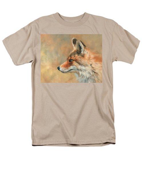 Fox Portrait Men's T-Shirt  (Regular Fit) by David Stribbling