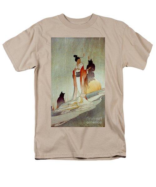 Men's T-Shirt  (Regular Fit) featuring the photograph Fox Woman 1912 by Padre Art