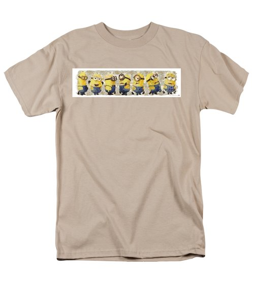 Fragmented And Still In Awe Congratulations Minions Men's T-Shirt  (Regular Fit) by Catherine Lott