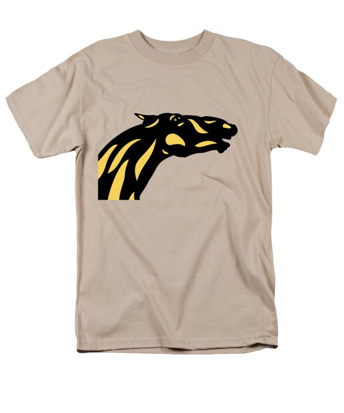Fred - Pop Art Horse - Black, Primrose Yellow, Hazelnut Men's T-Shirt  (Regular Fit) by Manuel Sueess