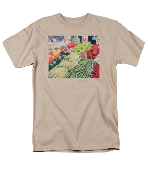 Fresh Green Beans Men's T-Shirt  (Regular Fit) by Constance DRESCHER
