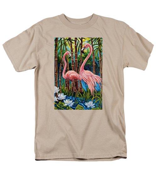 Fun Flamingos Men's T-Shirt  (Regular Fit) by Sebastian Pierre