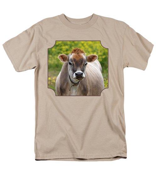 Funny Jersey Cow - Horizontal Men's T-Shirt  (Regular Fit)