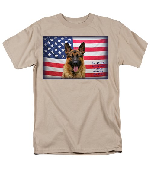 German Shepherd - U.s.a. - Text Men's T-Shirt  (Regular Fit) by Sandy Keeton