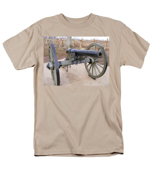 Gettysburg Cannon Men's T-Shirt  (Regular Fit) by Adam Cornelison