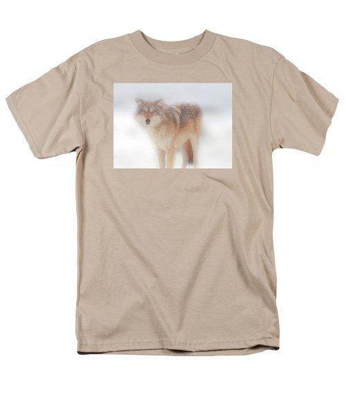 Ghost Wolf Men's T-Shirt  (Regular Fit) by Greg Slocum