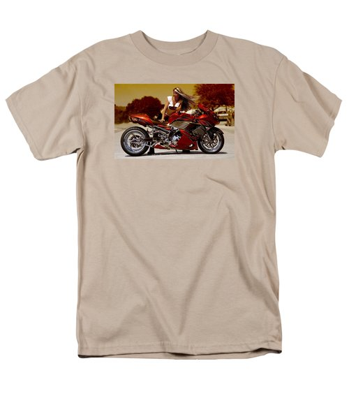 Men's T-Shirt  (Regular Fit) featuring the photograph Girl On Fire by Lawrence Christopher