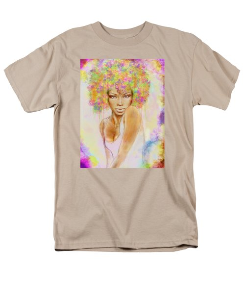 Girl With New Hair Style Men's T-Shirt  (Regular Fit)