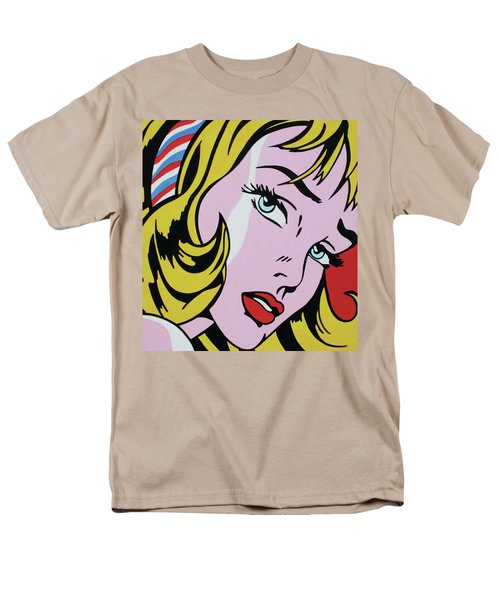 Girl With Ribbon Men's T-Shirt  (Regular Fit) by Luis Ludzska