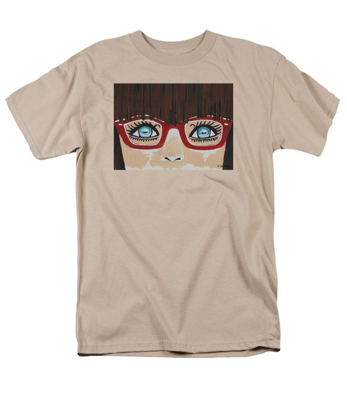 Men's T-Shirt  (Regular Fit) featuring the painting Girl With The Red Glasses by Kathleen Sartoris
