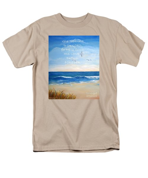 Give Thanks Men's T-Shirt  (Regular Fit) by Shelia Kempf