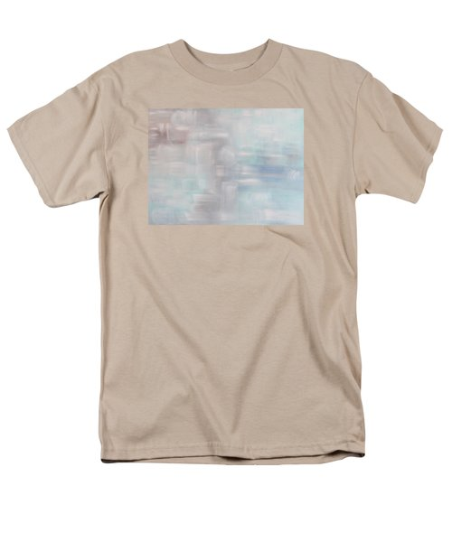 Men's T-Shirt  (Regular Fit) featuring the painting Gobi Desert Gale And Oasis by Min Zou
