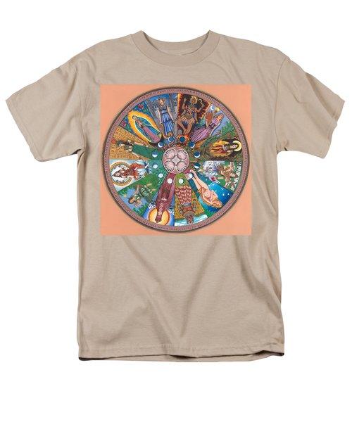 Goddess Wheel Guadalupe Men's T-Shirt  (Regular Fit) by James Roderick