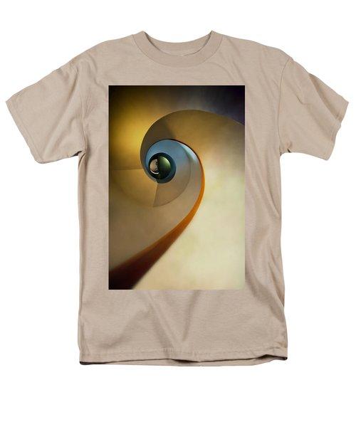 Golden And Brown Spiral Staircase Men's T-Shirt  (Regular Fit) by Jaroslaw Blaminsky