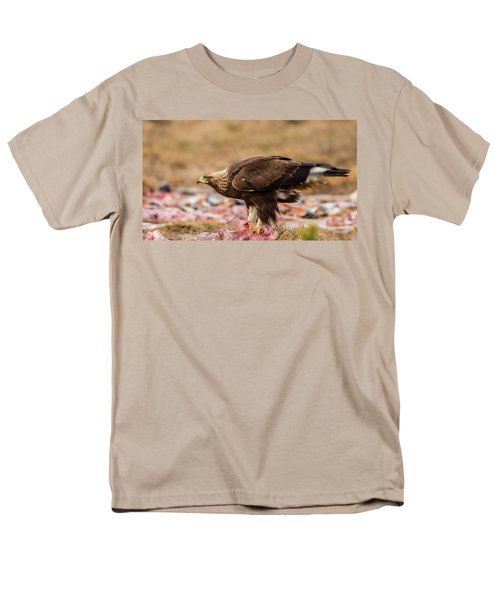 Men's T-Shirt  (Regular Fit) featuring the photograph Golden Eagle's Profile by Torbjorn Swenelius