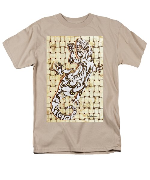 Men's T-Shirt  (Regular Fit) featuring the painting Golden Gecko by J- J- Espinoza