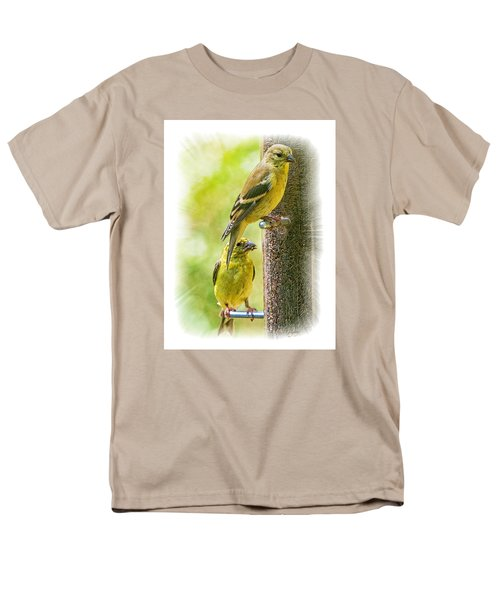 Men's T-Shirt  (Regular Fit) featuring the photograph Goldfinches by Constantine Gregory
