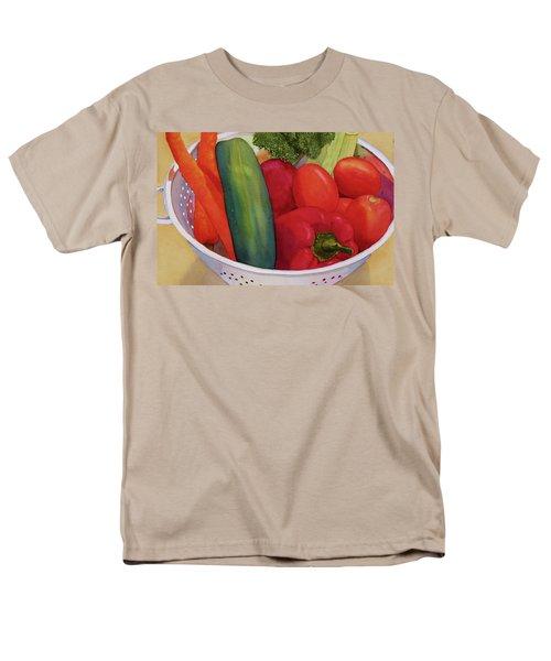 Men's T-Shirt  (Regular Fit) featuring the painting Good Eats by Judy Mercer