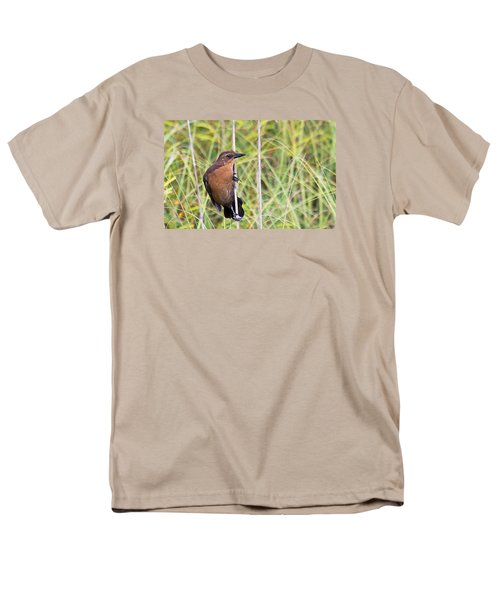 Grackle In The Reeds Men's T-Shirt  (Regular Fit) by Kenneth Albin
