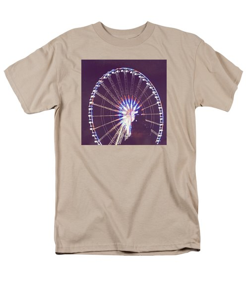 Grande Roue De Paris By Night Men's T-Shirt  (Regular Fit) by Aurella FollowMyFrench