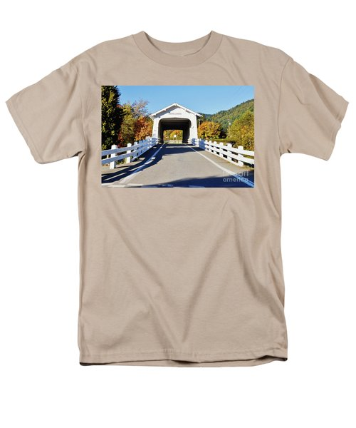 Grave Creek Covered Bridge 1 Men's T-Shirt  (Regular Fit) by Ansel Price