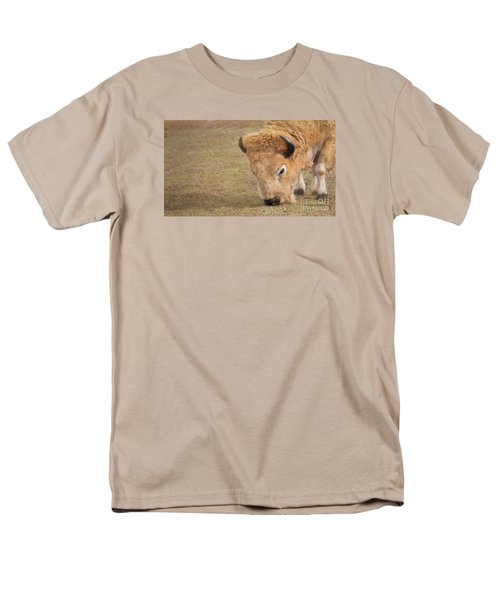Men's T-Shirt  (Regular Fit) featuring the photograph Grazing Buffalo by Laurinda Bowling