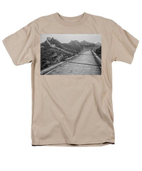 Men's T-Shirt  (Regular Fit) featuring the photograph Great Wall 5, Jinshanling, 2016 by Hitendra SINKAR