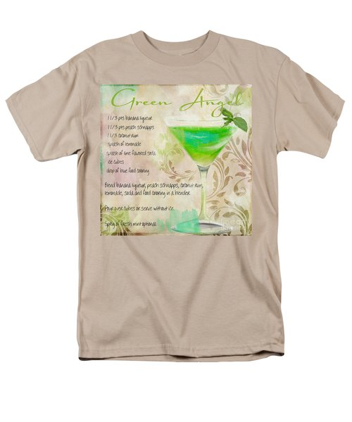 Green Angel Mixed Cocktail Recipe Sign Men's T-Shirt  (Regular Fit) by Mindy Sommers
