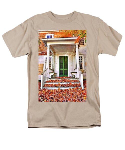 Green Autumn Door Men's T-Shirt  (Regular Fit) by Joan Reese