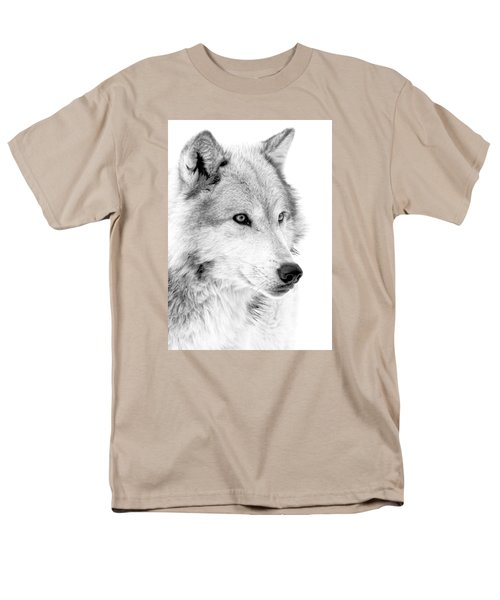 Grey Wolf Profile Men's T-Shirt  (Regular Fit) by Athena Mckinzie