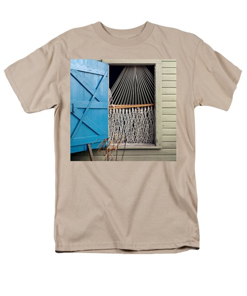 Hammock In Key West Window Men's T-Shirt  (Regular Fit) by Brent L Ander
