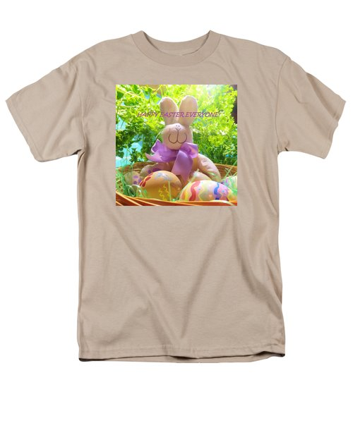 Happy Easter Everyone Men's T-Shirt  (Regular Fit) by Denise Fulmer
