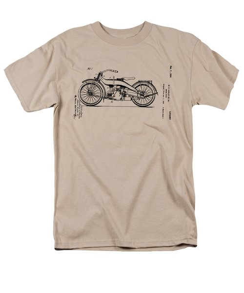 Men's T-Shirt  (Regular Fit) featuring the drawing Harley Motorcycle Patent by Bill Cannon