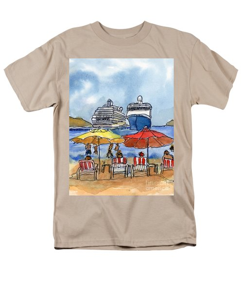 Hautuco Dock Men's T-Shirt  (Regular Fit) by Randy Sprout
