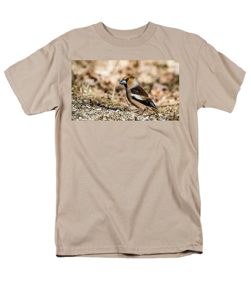 Men's T-Shirt  (Regular Fit) featuring the photograph Hawfinch's Gaze by Torbjorn Swenelius