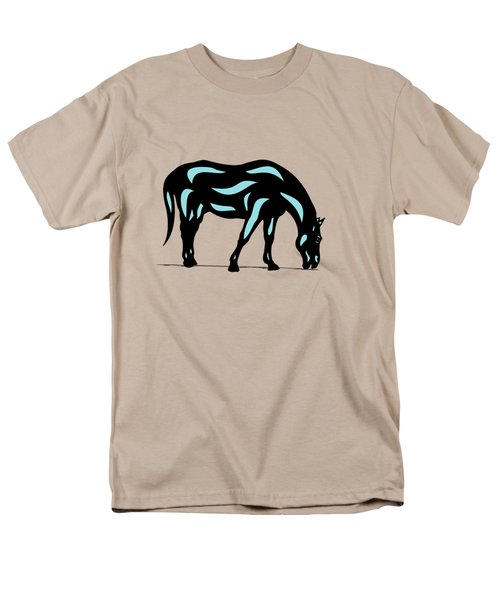 Hazel - Pop Art Horse - Black, Island Paradise Blue, Hazelnut Men's T-Shirt  (Regular Fit) by Manuel Sueess