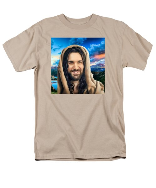 Men's T-Shirt  (Regular Fit) featuring the digital art He Watches Over Me 2 by Karen Showell