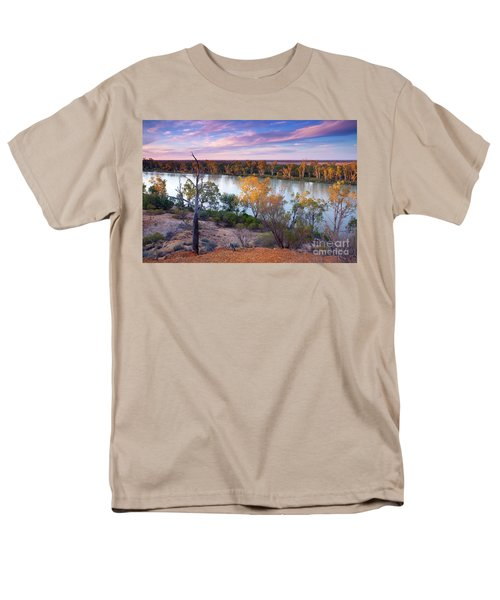 Men's T-Shirt  (Regular Fit) featuring the photograph Heading Cliffs Murray River South Australia by Bill Robinson