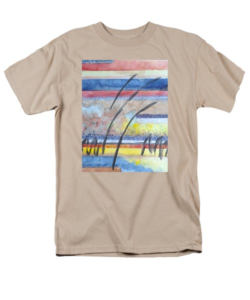 Men's T-Shirt  (Regular Fit) featuring the painting Heartbeat by Jacqueline Athmann