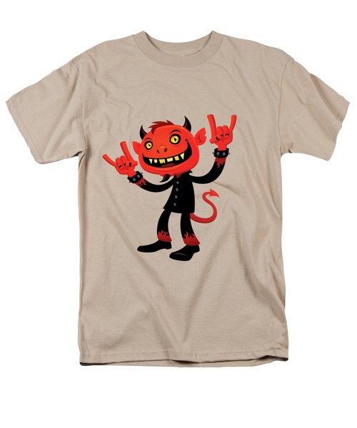 Heavy Metal Devil Men's T-Shirt  (Regular Fit) by John Schwegel
