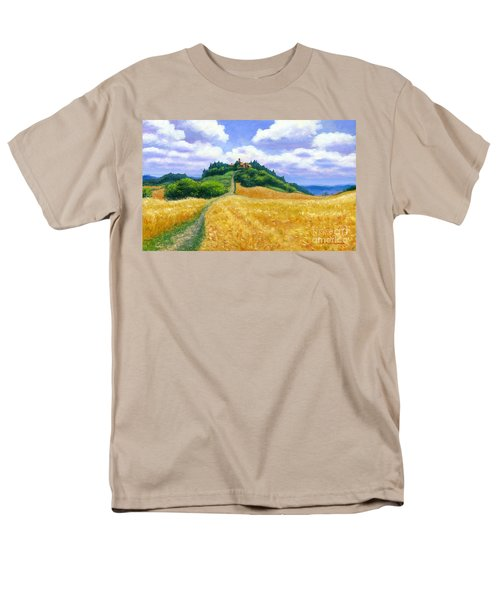 Men's T-Shirt  (Regular Fit) featuring the painting High Noon Tuscany  by Michael Swanson
