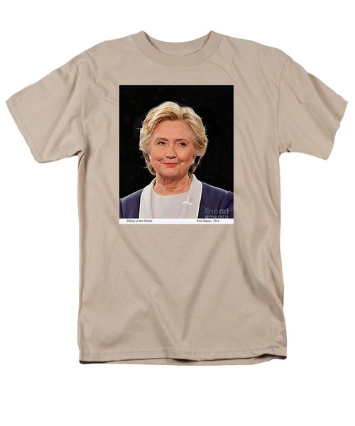 Hillary At The Debate Men's T-Shirt  (Regular Fit) by Fred Jinkins